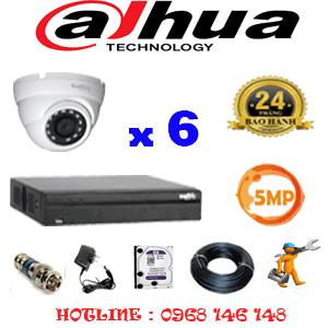 Lắp Đặt Trọn Bộ 6 Camera Dahua 5.0Mp (Dah-561500)-DAH-561500