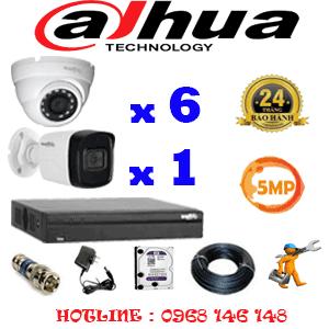Lắp Đặt Trọn Bộ 7 Camera Dahua 5.0Mp (Dah-5615116)-DAH-5615116
