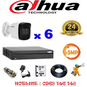 Lắp Đặt Trọn Bộ 6 Camera Dahua 5.0Mp (Dah-561600)-DAH-561600