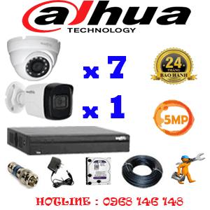 Lắp Đặt Trọn Bộ 8 Camera Dahua 5.0Mp (Dah-5715116)-DAH-5715116