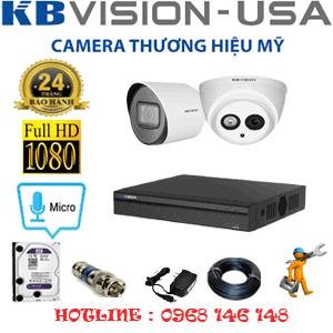 Lắp Đặt Trọn Bộ 2 Camera Kbvision 2.0Mp (Kb-2117118)-KB-2117118