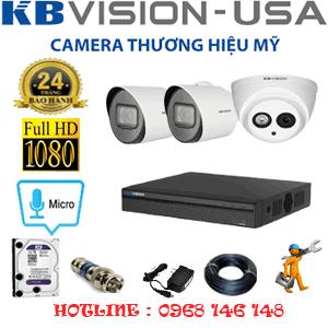 Lắp Đặt Trọn Bộ 3 Camera Kbvision 2.0Mp (Kb-2117218)-KB-2117218