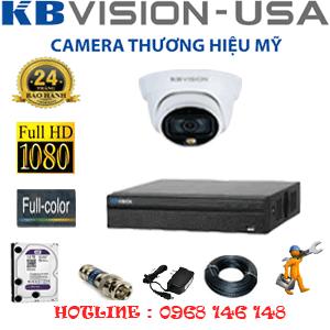 Lắp Đặt Trọn Bộ 1 Camera Kbvision 2.0Mp (Kb-212100)-KB-212100