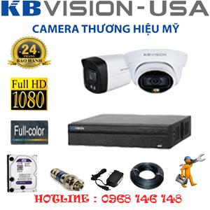 Lắp Đặt Trọn Bộ 2 Camera Kbvision 2.0Mp (Kb-2121122)-KB-2121122