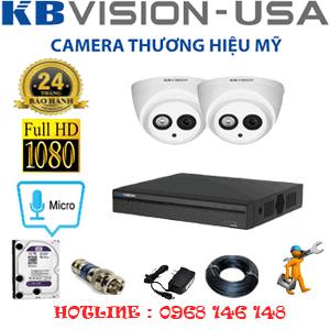 Lắp Đặt Trọn Bộ 2 Camera Kbvision 2.0Mp (Kb-221700)-KB-221700