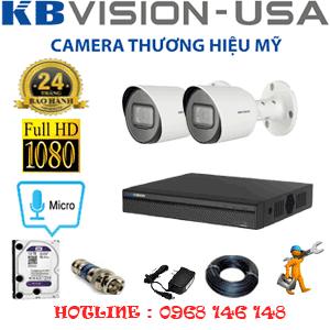 Lắp Đặt Trọn Bộ 2 Camera Kbvision 2.0Mp (Kb-221800)-KB-221800