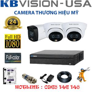 Lắp Đặt Trọn Bộ 3 Camera Kbvision 2.0Mp (Kb-2221122)-KB-2221122