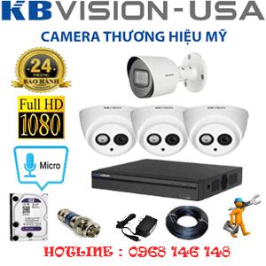 Lắp Đặt Trọn Bộ 4 Camera Kbvision 2.0Mp (Kb-2317118)-KB-2317118