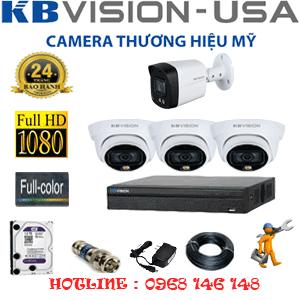 Lắp Đặt Trọn Bộ 4 Camera Kbvision 2.0Mp (Kb-2321122)-KB-2321122
