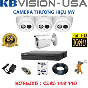 Lắp Đặt Trọn Bộ 4 Camera Kbvision 2.0Mp (Kb-2323124)-KB-2323124