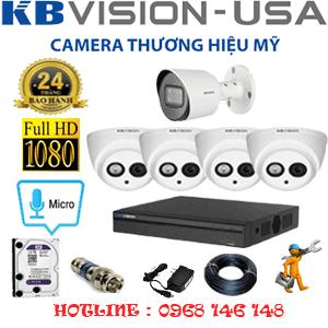 Lắp Đặt Trọn Bộ 5 Camera Kbvision 2.0Mp (Kb-2417118)-KB-2417118