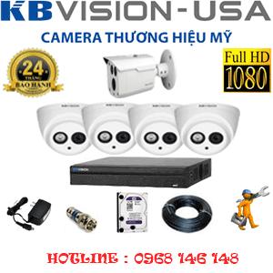 Lắp Đặt Trọn Bộ 5 Camera Kbvision 2.0Mp (Kb-2423124)-KB-2423124