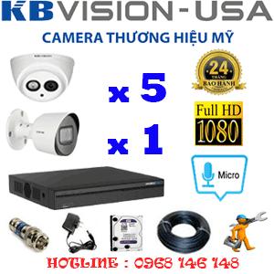 Lắp Đặt Trọn Bộ 6 Camera Kbvision 2.0Mp (Kb-2517118)-KB-2517118