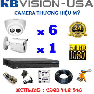 Lắp Đặt Trọn Bộ 7 Camera Kbvision 2.0Mp (Kb-2623124)-KB-2623124