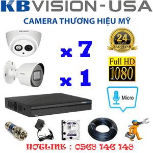 Lắp Đặt Trọn Bộ 8 Camera Kbvision 2.0Mp (Kb-2717118)-KB-2717118