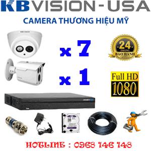 Lắp Đặt Trọn Bộ 8 Camera Kbvision 2.0Mp (Kb-2723124)-KB-2723124