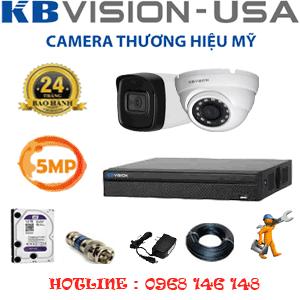 Lắp Đặt Trọn Bộ 2 Camera Kbvision 5.0Mp (Kb-5119120)-KB-5119120