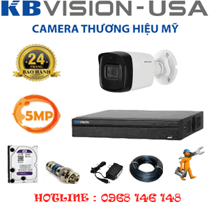 Lắp Đặt Trọn Bộ 1 Camera Kbvision 5.0Mp (Kb-512000)-KB-512000