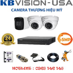 Lắp Đặt Trọn Bộ 3 Camera Kbvision 5.0Mp (Kb-5219120)-KB-5219120