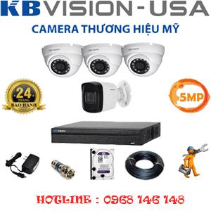 Lắp Đặt Trọn Bộ 4 Camera Kbvision 5.0Mp (Kb-5319120)-KB-5319120
