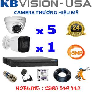 Lắp Đặt Trọn Bộ 6 Camera Kbvision 5.0Mp (Kb-5519120)-KB-5519120