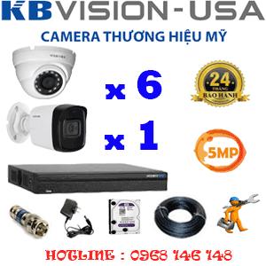 Lắp Đặt Trọn Bộ 7 Camera Kbvision 5.0Mp (Kb-5619120)-KB-5619120