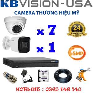 Lắp Đặt Trọn Bộ 8 Camera Kbvision 5.0Mp (Kb-5719120)-KB-5719120