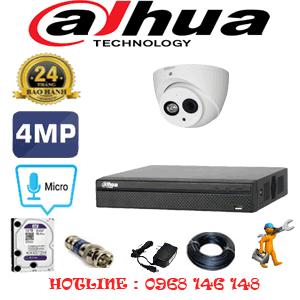 Lắp Đặt Trọn Bộ 1 Camera Dahua 4.0Mp (Dah-412700)-DAH-412700