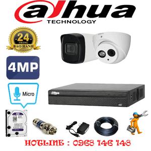 Lắp Đặt Trọn Bộ 2 Camera Dahua 4.0Mp (Dah-4127128)-DAH-4127128