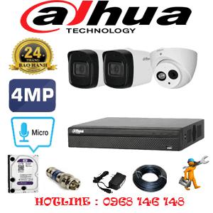 Lắp Đặt Trọn Bộ 3 Camera Dahua 4.0Mp (Dah-4127228)-DAH-4127228