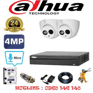 Lắp Đặt Trọn Bộ 2 Camera Dahua 4.0Mp (Dah-422700)-DAH-422700
