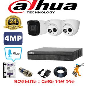 Lắp Đặt Trọn Bộ 3 Camera Dahua 4.0Mp (Dah-4227128)-DAH-4227128