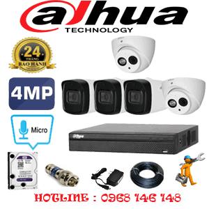 Lắp Đặt Trọn Bộ 5 Camera Dahua 4.0Mp (Dah-4227328)-DAH-4227328