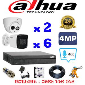 Lắp Đặt Trọn Bộ 8 Camera Dahua 4.0Mp (Dah-4227628)-DAH-4227628