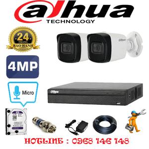 Lắp Đặt Trọn Bộ 2 Camera Dahua 4.0Mp (Dah-422800)-DAH-422800