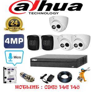 Lắp Đặt Trọn Bộ 5 Camera Dahua 4.0Mp (Dah-4327228)-DAH-4327228