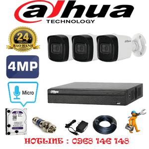 Lắp Đặt Trọn Bộ 3 Camera Dahua 4.0Mp (Dah-432800)-DAH-432800
