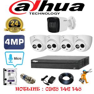 Lắp Đặt Trọn Bộ 5 Camera Dahua 4.0Mp (Dah-4427128)-DAH-4427128
