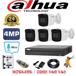 Lắp Đặt Trọn Bộ 4 Camera Dahua 4.0Mp (Dah-442800)-DAH-442800
