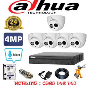 Lắp Đặt Trọn Bộ 5 Camera Dahua 4.0Mp (Dah-452700)-DAH-452700