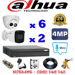Lắp Đặt Trọn Bộ 8 Camera Dahua 4.0Mp (Dah-4627228)-DAH-4627228