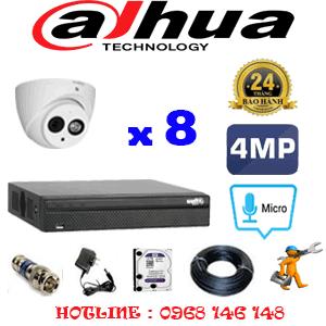 Lắp Đặt Trọn Bộ 8 Camera Dahua 4.0Mp (Dah-482700)-DAH-482700