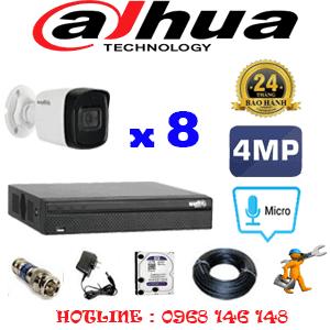 Lắp Đặt Trọn Bộ 8 Camera Dahua 4.0Mp (Dah-482800)-DAH-482800