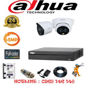 Lắp Đặt Trọn Bộ 2 Camera Dahua 5.0Mp (Dah-5131132)-DAH-5131132