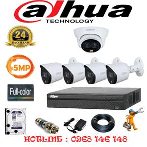 Lắp Đặt Trọn Bộ 5 Camera Dahua 5.0Mp (Dah-5131432)-DAH-5131432