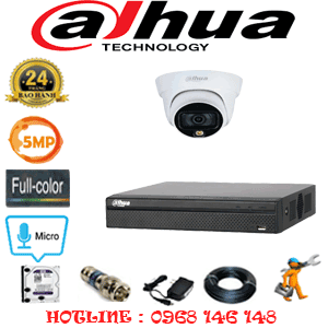 Lắp Đặt Trọn Bộ 1 Camera Dahua 5.0Mp (Dah-513300)-DAH-513300