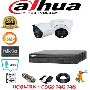 Lắp Đặt Trọn Bộ 2 Camera Dahua 5.0Mp (Dah-5133134)-DAH-5133134