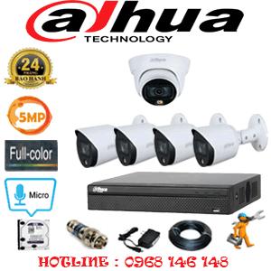 Lắp Đặt Trọn Bộ 5 Camera Dahua 5.0Mp (Dah-5133434)-DAH-5133434