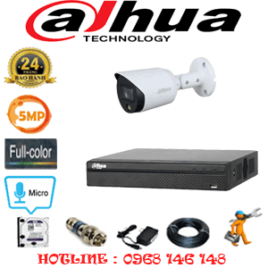 Lắp Đặt Trọn Bộ 1 Camera Dahua 5.0Mp (Dah-513400)-DAH-513400