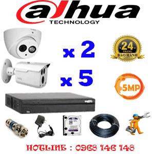 Lắp Đặt Trọn Bộ 7 Camera Dahua 5.0Mp (Dah-5229530)-DAH-5229530